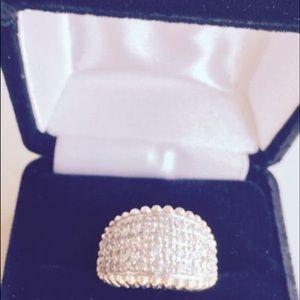 Jewelry - Genuine Pave Diamond Ring